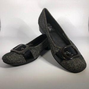 LifeStride Tori Black Tweed Loafer Flats  - 10M